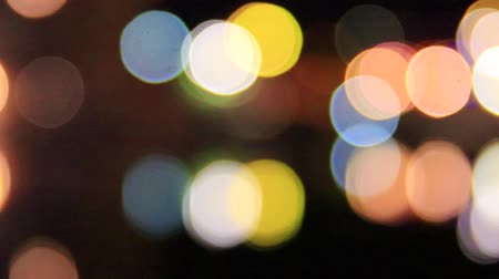 arco : Round multicolored light on black background Stock Footage