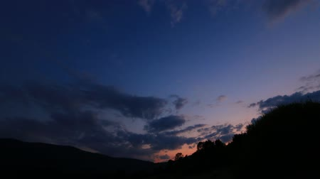 occitania : timelapse of sunset in Pyrenees, Aude in the south of France