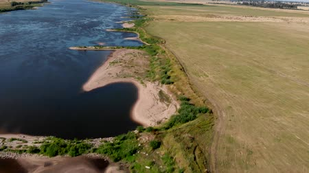 vistula : Aerial shot of the Vistula river. River seen from above. Stock Footage