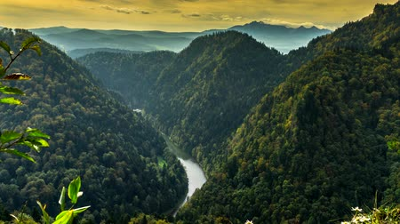 Panorama - view of the Pieniny Mountains, Poland.