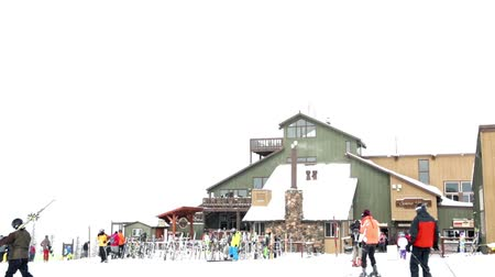 karpatské : Keystone, Colorado, USA-February 22, 2015.  Ski resort at the end of the season after the snow storm in Colorado. Dostupné videozáznamy