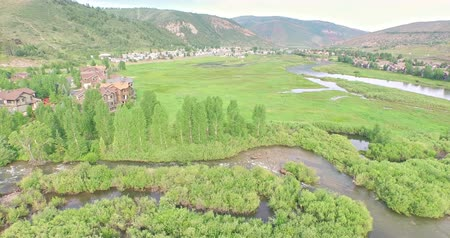 sas : Aerial view of Colorado river at scenic view near I70. Stock mozgókép