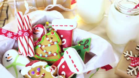 kurutma : Home made Christmas cookies decorated with colorful icing.
