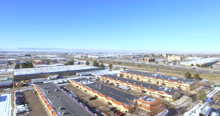 karpatské : Denver, Colorado, USA-January 10, 2016. Aerial view of industrial park in the winter. Dostupné videozáznamy
