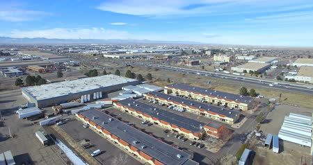 karpatské : Denver, Colorado, USA-January 23, 2016. Aerial view of industrial park in the winter. Dostupné videozáznamy