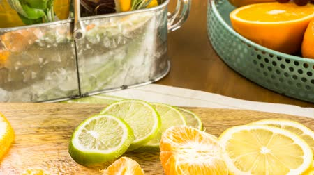 infused water : Detox citrus infused water as a refreshing summer drink.