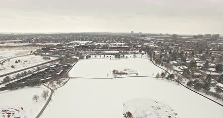 dayton : Aerial view of Daytona lightrail station in the Winter.