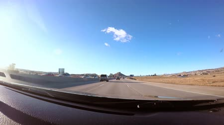 karpatské : Colorado Springs, Colorado, USA-March 30, 2016. View from the dashboard camera while driving.