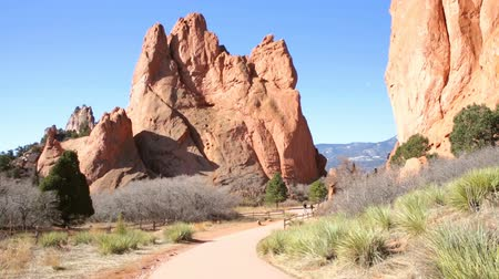 sumerian : Garden of the Gods at the end of the Winter. Stock Footage