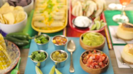 tomate : Fiesta party buffet table with traditional Mexican food.