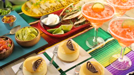 sweetened : Fiesta party buffet table with dulce de lecheand other traditional Mexican food.