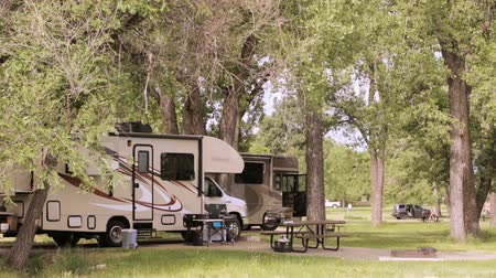 motor vehicle : Summer camping at Cherry Creek State Park, Colorado.