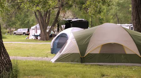 rv park : Summer camping at Cherry Creek State Park, Colorado.