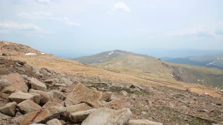 ér : Aerial view from the top of Mount Evans. Stock mozgókép