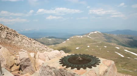 er : Aerial view from the top of Mount Evans. Stock Footage