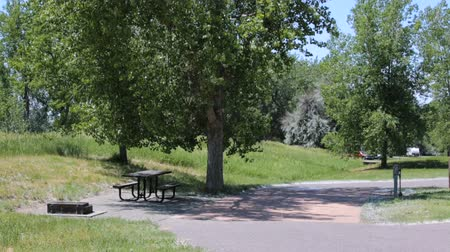 rv park : RV campground at Cherry Creek State Park. Stock Footage