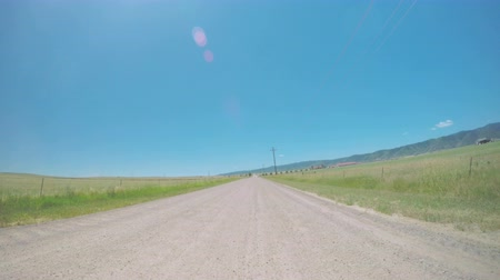 karpatské : Driving on country road surrounded by agricultural fields. POV point of view. Dostupné videozáznamy