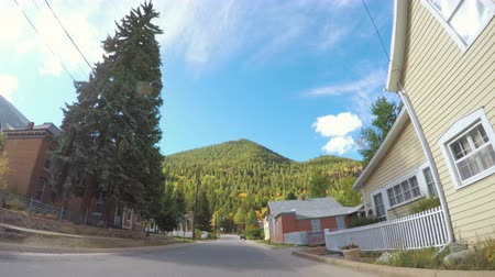 georgetown : Georgetown, Colorado, USA-September 22, 2016. POV point of view - Driving through historical Georgetown in the Autumn. Stock Footage