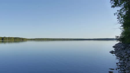 ködös : Lake in Canada - Morning view - Steady Room wide view Stock mozgókép