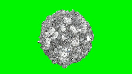 rombusz : Diamonds orb blast or scatter over green screen