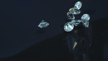 biżuteria : Loopable Large diamonds rolling over with slow motion