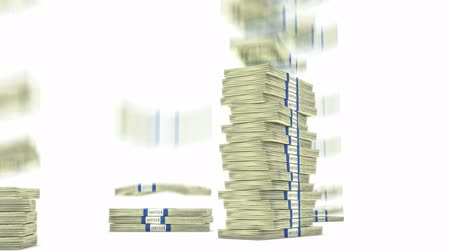 финансы : 100 dollar bundles stacks falling down. Wealth and money