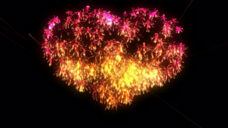 St. Valentines Day Fireworks heart shape