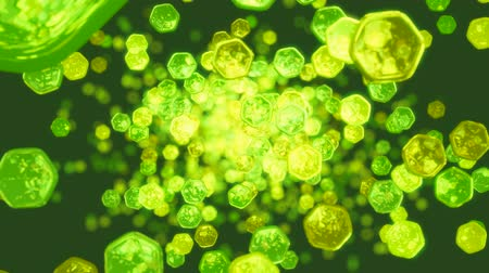 keverék : Splash of green abstract bubbles and lights. Useful as motion background Stock mozgókép