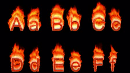 letter f : Loopable burning A, B, C, D, E, F