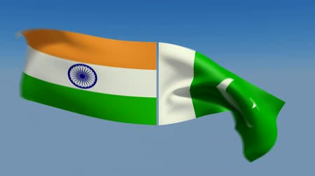 faceoff : Loopable India and Pakistan Flags. Alpha channel is included