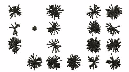 kleks : Set of black blobs or ink splashes. Alpha is included