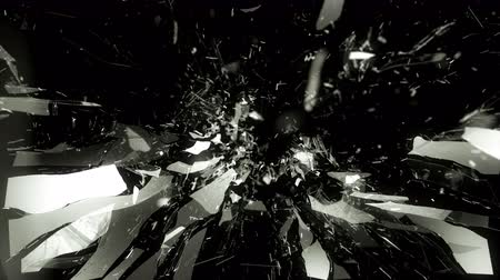 delikleri : 4K Cracked and Shattered glass with slow motion. Alpha