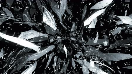 poškozené : 4K splitted and Shattered glass with slow motion. Alpha Dostupné videozáznamy
