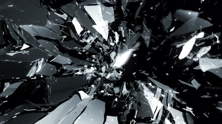 fosco : Splitted and Shattered glass with slow motion. Alpha