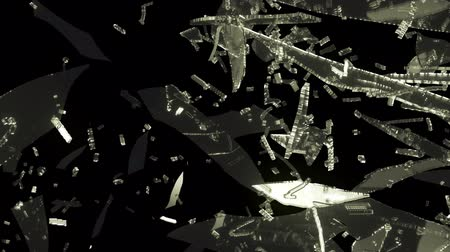 broken crash : Glass breaking and destruction with slow motion. Alpha Stock Footage