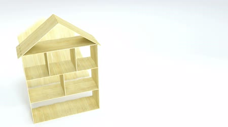 оформление : Disassembling of wooden doll house. Toy house details