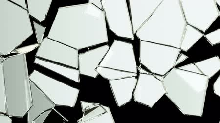 shattered : Glass crack and shatter with slow motion. Alpha