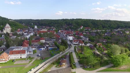 kazimierz : Kazimierz Dolny - a tourist town on the Vistula River - birds eye view.