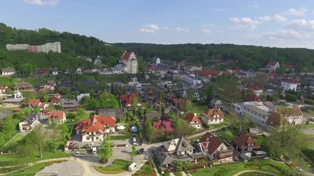 kazimierz : Landscape of Kazimierz Dolny. Tourist town seen from the birds eye view. Stock Footage