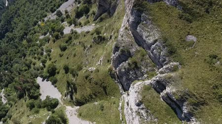 taş ocağı : Rocky cliff in the Caucasus mountains. Top view.