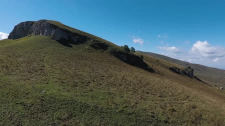 плато : Rocky hilltop. Aerial drone view.