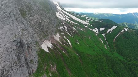 lowland : Panoramic Aerial drone footage of the mountain valley