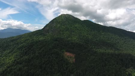 krasnodar region : Aerial view of the mountain Chernogor (Sleeping Circassian). Krasnodar region, Russia.