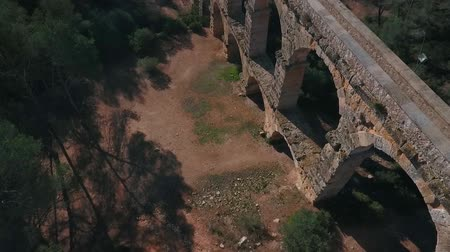 archeologie : Aerial view of the Roman aqueduct. Tarragona, Spain. Dostupné videozáznamy