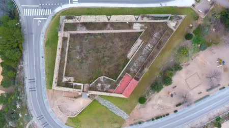 skalní útes : Top view of the military fort in Tarragona, Spain.