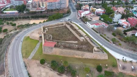 fortificado : Aerial view of the old military fort in Tarragona, Spain.