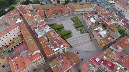 tarragone : Aerial view of square Antic Escorxador and Tarragona town, Spain.