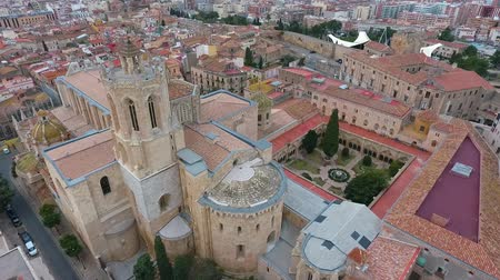 tarragone : Aerial view of the Cathedral de Tarragona. Tarragona, Catalonia, Spain.