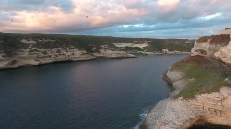 boa : Aerial view of the Bay of Bonifacio on the island of Corsica.