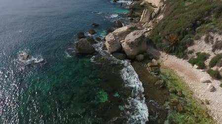 boulders : Bonifacio on the island of Corsica. Stock Footage